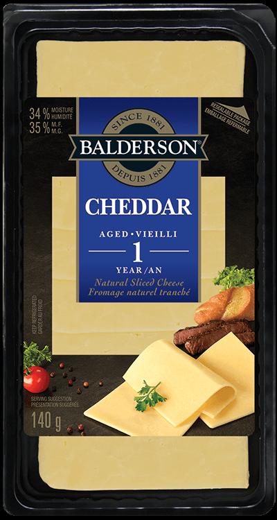 Fromage naturel tranché - Cheddar Vieilli 1 an