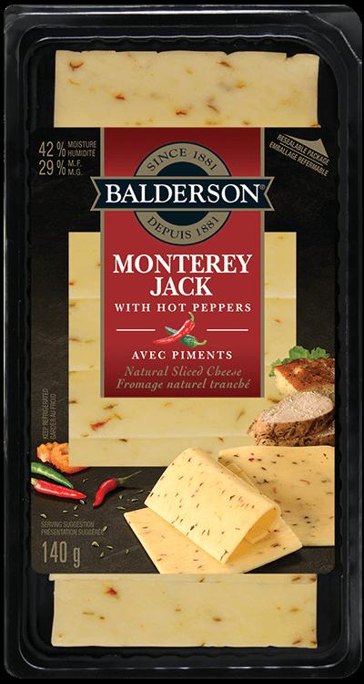 Fromage naturel tranché - Monterey Jack avec piments