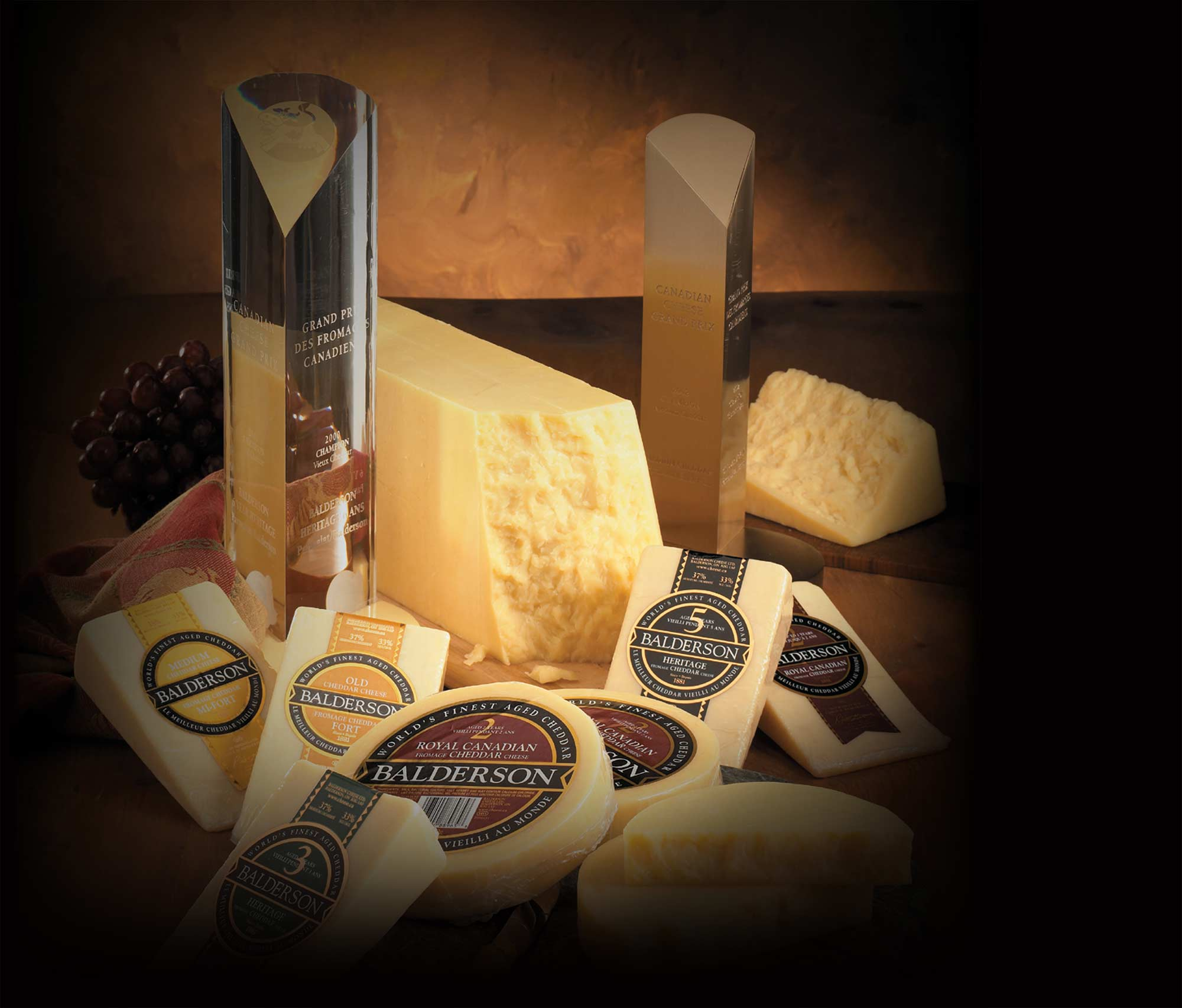 Background image: Cheese and awards