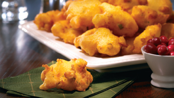 Aged Cheddar Corn Muffin Fritters