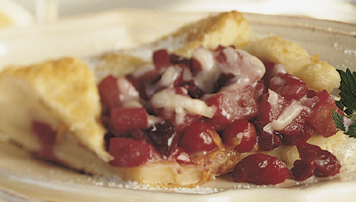 Pear, Cranberry and Cheddar Gallette