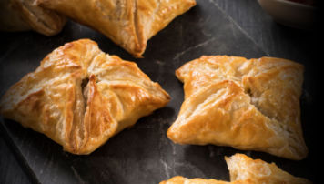 Cheddar and Sausage Puff Pastry Tarts