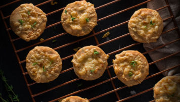 Cheddar and Thyme Savory Shortbread