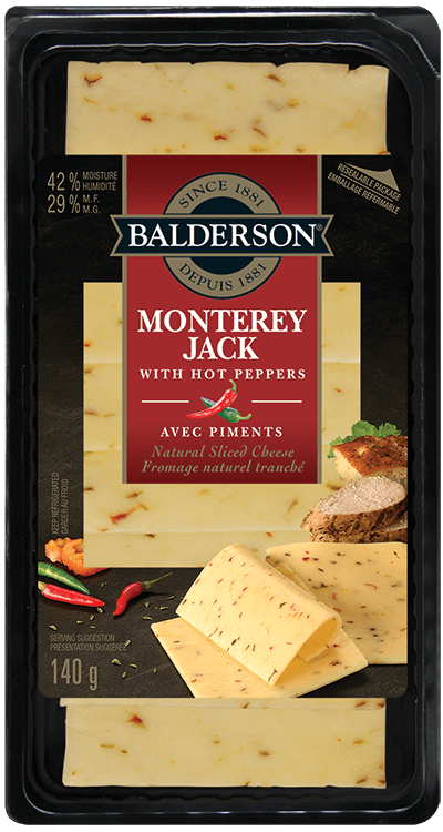 Balderson Natural Sliced Cheese - Monterey Jack with Hot Peppers