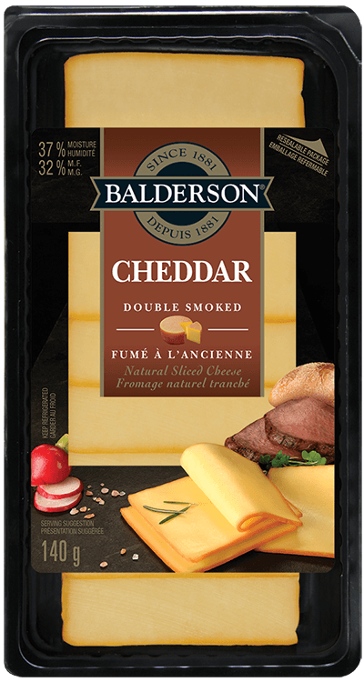 Balderson Natural Sliced Cheese - Double Smoked Cheddar