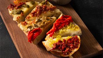 Antipasto Cheddar Garlic Bread