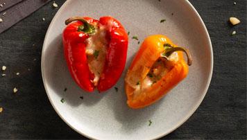 Smoked Cheddar-Stuffed Mini Peppers