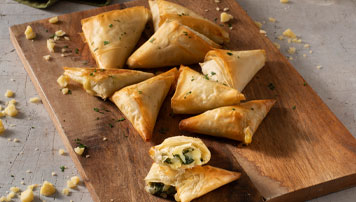 Spinach and Cheddar Phyllo Triangles