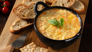 Roasted Tomato and Cheddar Basil Dip